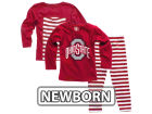 Ohio State Buckeyes NCAA Newborn Girls Stripe Set Outfits