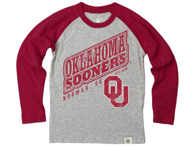 Oklahoma Sooners NCAA Infant Heather Raglan T-shirt