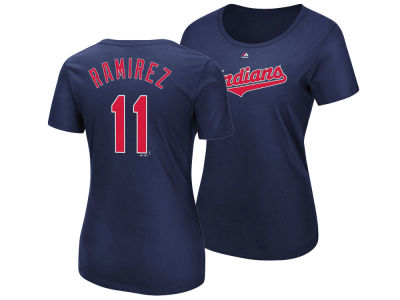 Cleveland Indians Jose Ramirez Majestic MLB Women's Crew Player T-Shirt