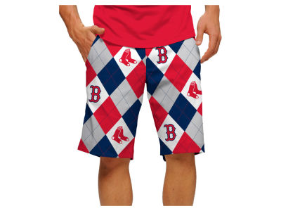 Boston Red Sox Loudmouth Golf MLB Men's Argyle Shorts
