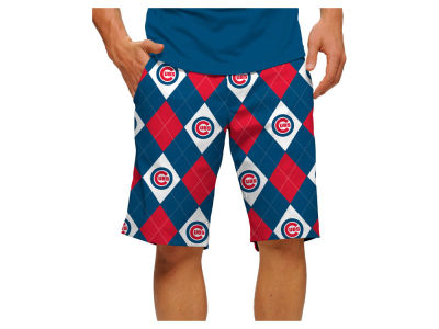 Chicago Cubs Loudmouth Golf MLB Men's Argyle Shorts