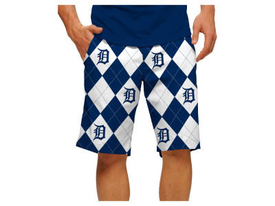 Detroit Tigers Loudmouth Golf MLB Men's Argyle Shorts