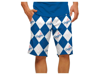 Los Angeles Dodgers Loudmouth Golf MLB Men's Argyle Shorts