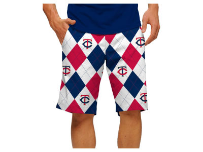 Minnesota Twins Loudmouth Golf MLB Men's Argyle Shorts