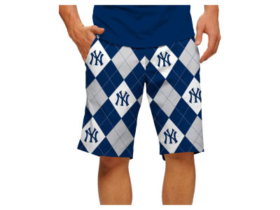 New York Yankees Loudmouth Golf MLB Men's Argyle Shorts