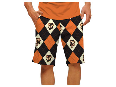 San Francisco Giants Loudmouth Golf MLB Men's Argyle Shorts