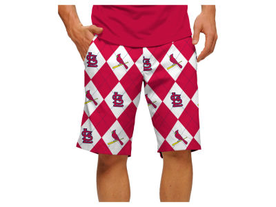St. Louis Cardinals Loudmouth Golf MLB Men's Argyle Shorts