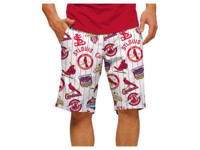 St. Louis Cardinals Loudmouth Golf MLB Men's Retro Stretch Tech Shorts