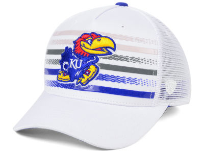 87c0d779970 Kansas Jayhawks Top of the World NCAA Tranquil Trucker Cap