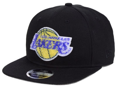 Los Angeles Lakers New Era NBA Swarovski Crystal 9FIFTY Snapback Cap f90056e0690