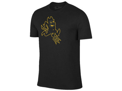 Arizona State Sun Devils The Victory NCAA Men's Black Out Dual Blend T-Shirt