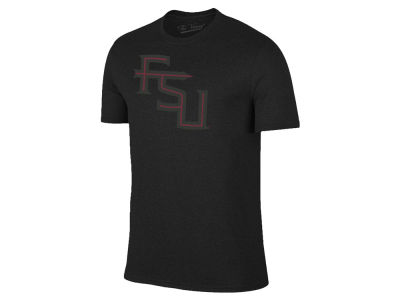 Florida State Seminoles The Victory NCAA Men's Black Out Dual Blend T-Shirt
