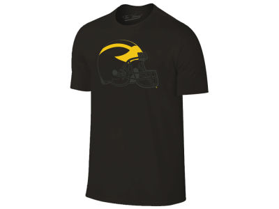 Michigan Wolverines The Victory NCAA Men's Black Out Dual Blend T-Shirt