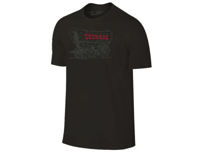 Oklahoma Sooners The Victory NCAA Men's Black Out Dual Blend T-Shirt