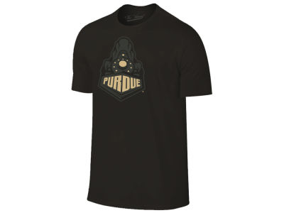 Purdue Boilermakers The Victory NCAA Men's Black Out Dual Blend T-Shirt