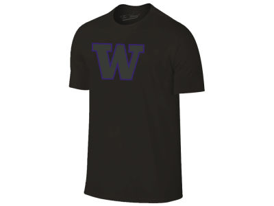 Washington Huskies The Victory NCAA Men's Black Out Dual Blend T-Shirt