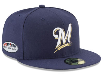 Milwaukee Brewers New Era 2018 MLB Postseason Patch 59FIFTY Cap