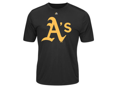 Oakland Athletics Majestic MLB Men's Wordmark Cool Base T-Shirt