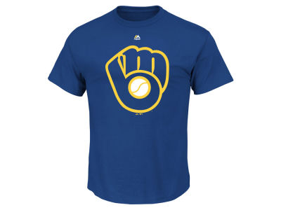 Milwaukee Brewers Majestic MLB Men's Official Wordmark Team T-Shirt