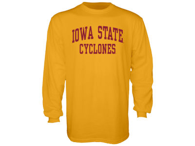 Iowa State Cyclones Blue 84 NCAA Men's Stacked Graphic Long Sleeve T-Shirt