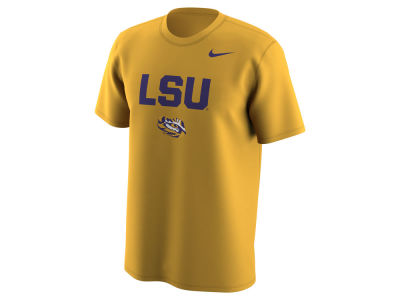 LSU Tigers Nike NCAA Men's Legend Logo Lockup T-Shirt