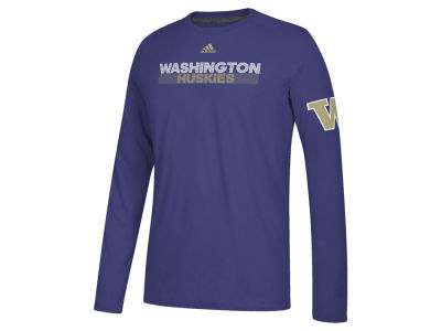Washington Huskies adidas NCAA Men's Sideline Lined Up Long Sleeve T-Shirt