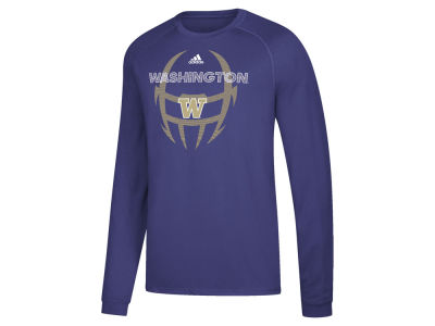 Washington Huskies adidas NCAA Men's Sideline Pop Long Sleeve T-Shirt