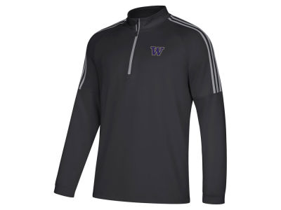 Washington Huskies adidas NCAA 3-Stripe 1/4 Zip Pullover