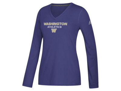 Washington Huskies adidas NCAA Women's Sideline Rush Athletics Long Sleeve T-Shirt