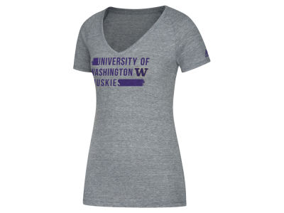 Washington Huskies adidas NCAA Women's Tri-Blend Feature V-Neck T-Shirt
