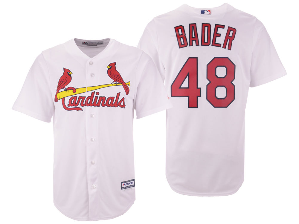 St. Louis Cardinals Harrison Bader Majestic MLB Men s Player Replica Cool  Base Jersey  d60393e15