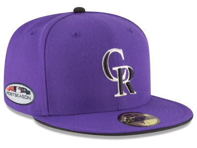 Colorado Rockies New Era 2018 MLB Postseason Patch 59FIFTY Cap