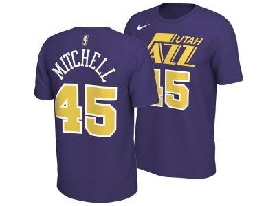 Utah Jazz Donovan Mitchell Nike NBA Men s Hardwood Classics Name and Number  T-Shirt 70fbcff24