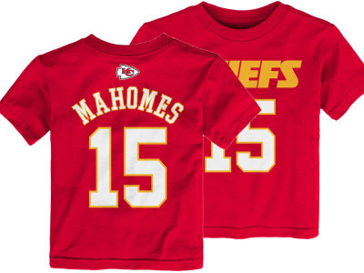 Kansas City Chiefs Pat Mahomes Outerstuff NFL Toddler Mainliner Player T-Shirt