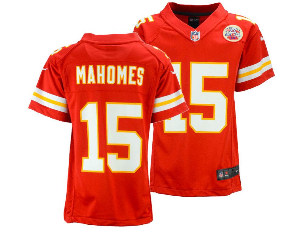 63ea8ce44 Kansas City Chiefs Pat Mahomes Nike NFL Kids Game Jersey