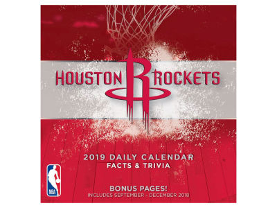 Houston Rockets 2019 Box Calendar