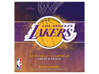 Los Angeles Lakers 2019 Box Calendar