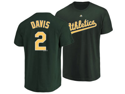 Oakland Athletics Khris Davis Majestic MLB Men's Official Player T-Shirt