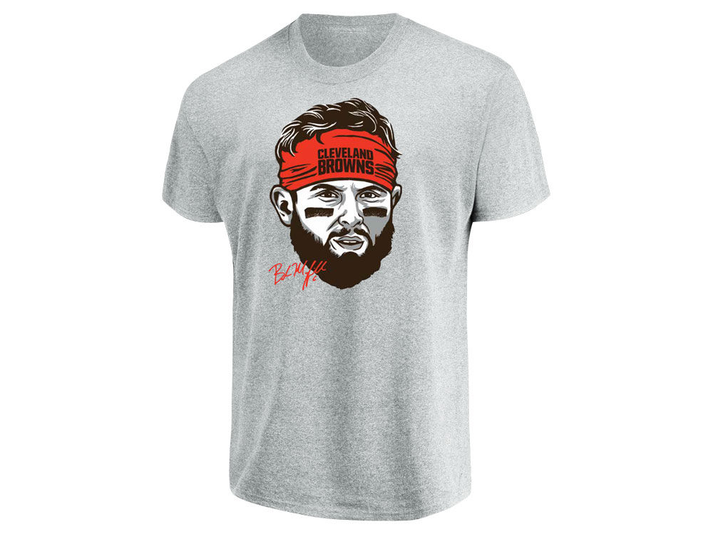 Cleveland Browns Baker Mayfield Majestic NFL Men s Mayfield Headband T-Shirt   99f715cbc