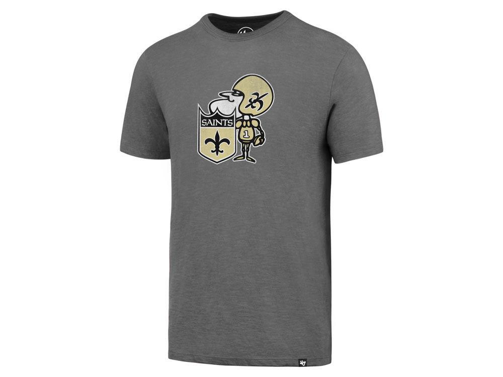 b7f4c355a New Orleans Saints  47 NFL Retro Logo Scrum T-Shirt