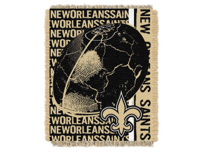 New Orleans Saints The Northwest Company Double Play Jaquard Blanket