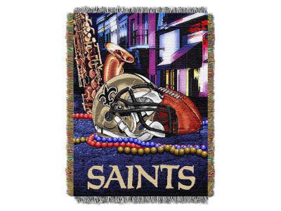 New Orleans Saints The Northwest Company Home Field Advantage Tapestry Throw Blanket