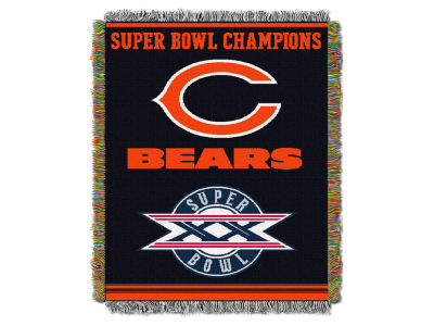 Chicago Bears The Northwest Company Commemorative Series Tapestry Throw Blanket