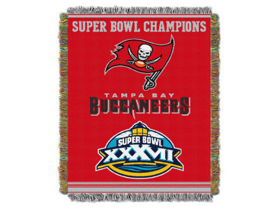 Tampa Bay Buccaneers The Northwest Company Commemorative Series Tapestry Throw Blanket