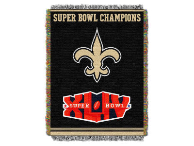 New Orleans Saints The Northwest Company Commemorative Series Tapestry Throw Blanket