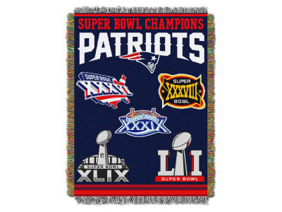 New England Patriots The Northwest Company Commemorative Series Tapestry Throw Blanket
