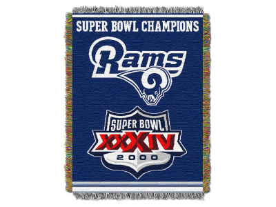 Los Angeles Rams The Northwest Company Commemorative Series Tapestry Throw Blanket