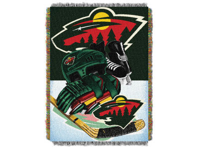 Minnesota Wild The Northwest Company NHL Home Ice Advantage Tapestry Throw Blanket