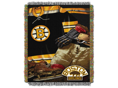 Boston Bruins The Northwest Company Vintage Tapestry Throw Blanket