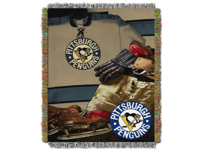 Pittsburgh Penguins The Northwest Company Vintage Tapestry Throw Blanket